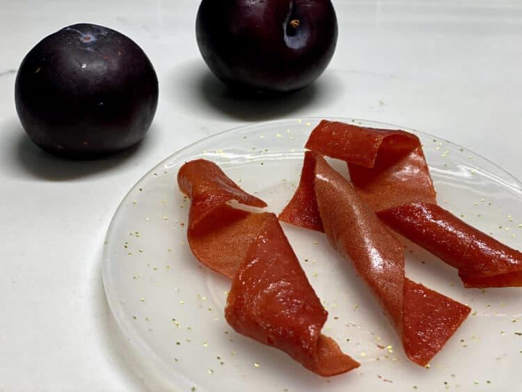 oven-baked fresh fruit leather