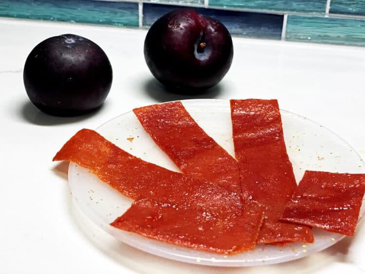 fresh fruit leather strips