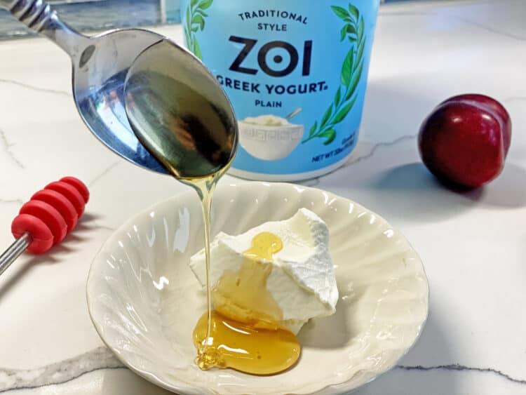 greek yogurt and honey