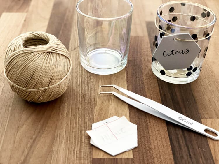 Cricut craft candle holder