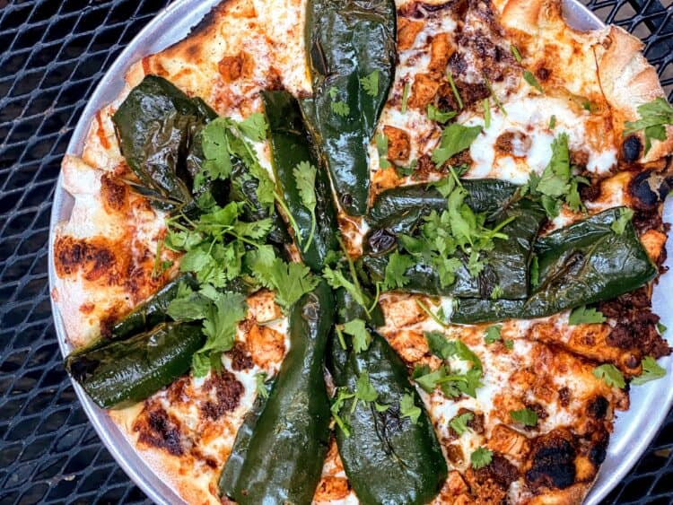 baja pizza with hot chiles