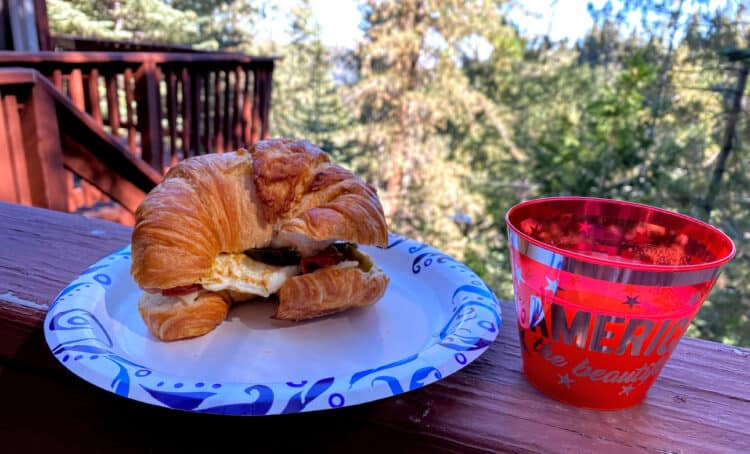 egg sandwich on our end of summer vacation