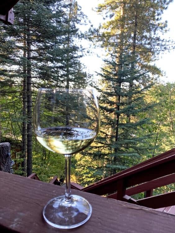 wine on our end of summer vacation