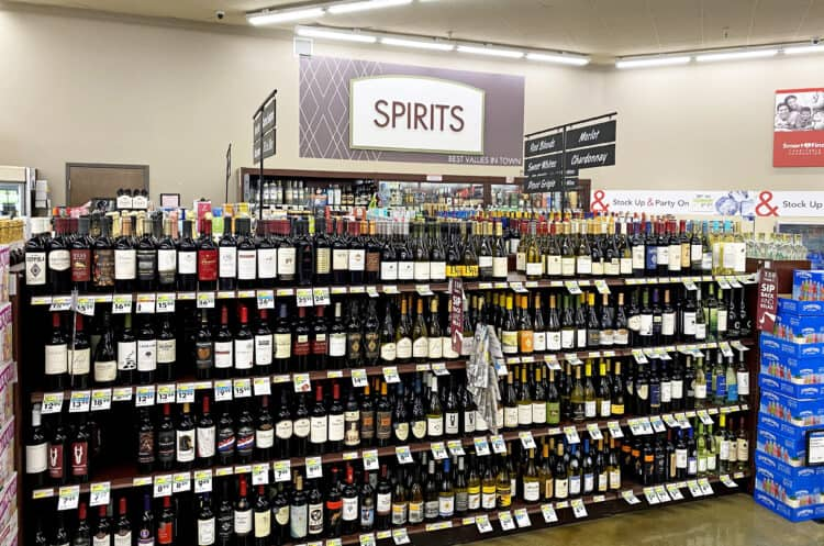 smart and final wine section