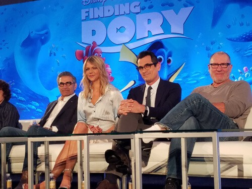 Interviewing the cast of Finding Dory