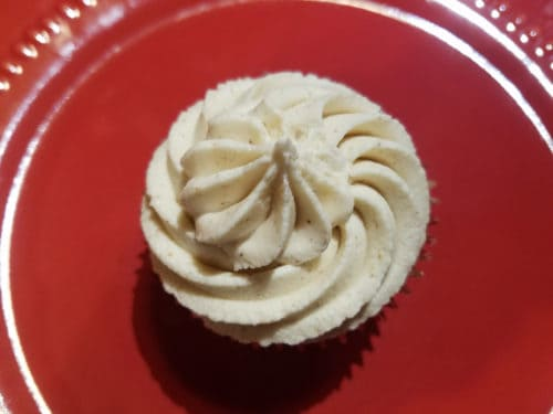 hot buttered rum cupcake